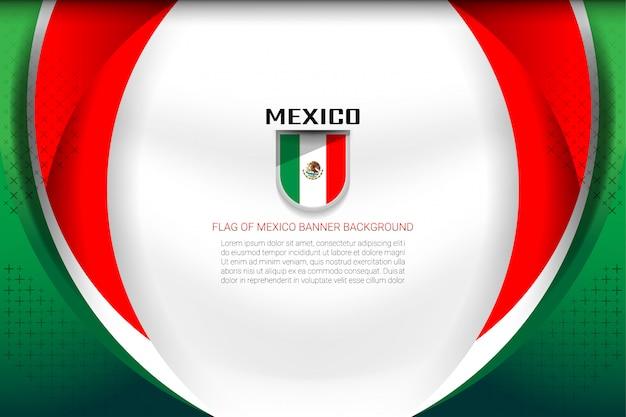 Fundo da bandeira do méxico Vetor Premium