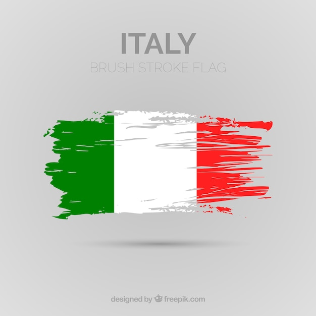 Fundo da bandeira italiana Vetor grátis