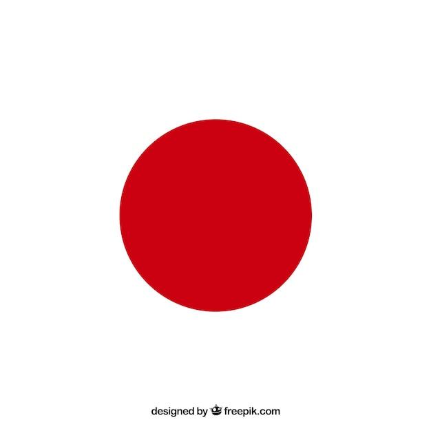 Fundo da bandeira japonesa Vetor grátis