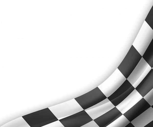 Fundo da bandeira quadriculada ilustração Vetor Premium