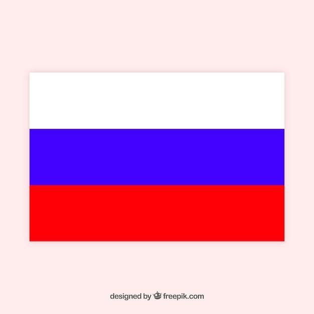 Fundo da bandeira russa Vetor grátis