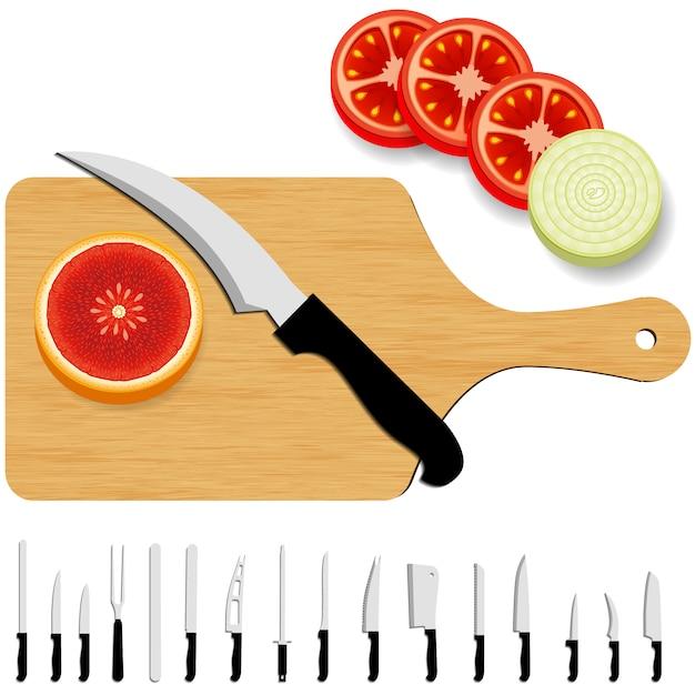 Fundo da coleção de facas Vetor grátis