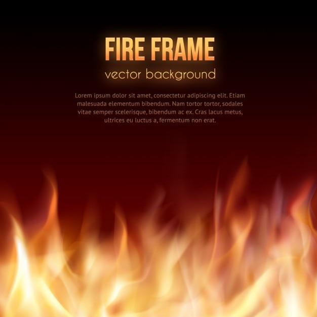 Fundo da flama do incêndio Vetor grátis