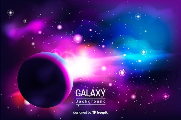 Fundo da galáxia Vetor grátis