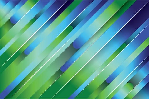 Fundo da linha abstrata verde e azul Vetor Premium