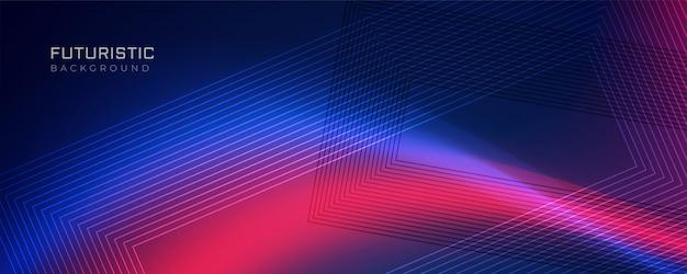 Fundo da linha futurista com efeito de luz Vetor grátis