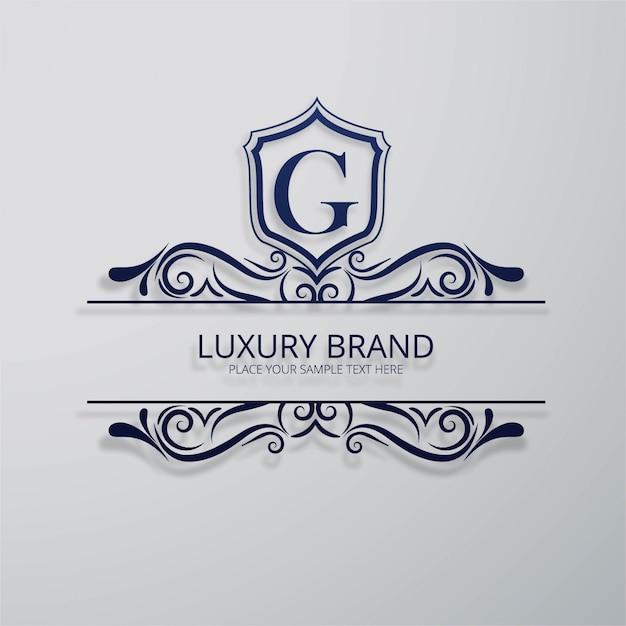 Fundo da marca de luxo Vetor grátis