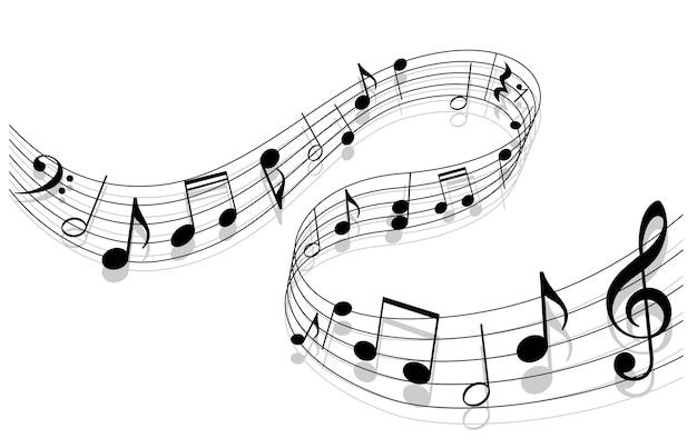 Fundo da música Vetor Premium