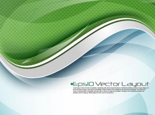 Fundo da onda digital moderna em verde e azul Vetor grátis