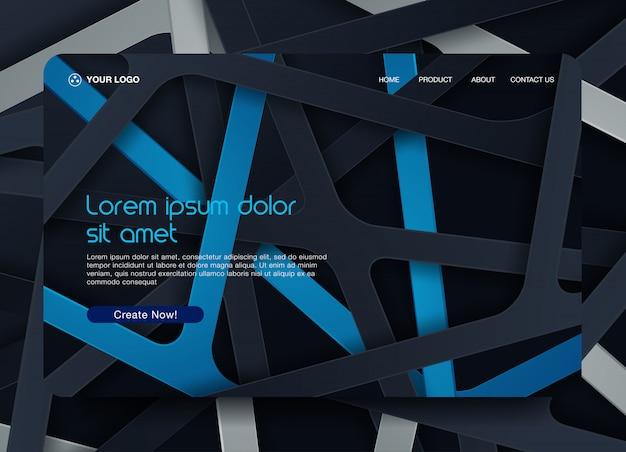 Fundo da página de destino do site Vetor Premium