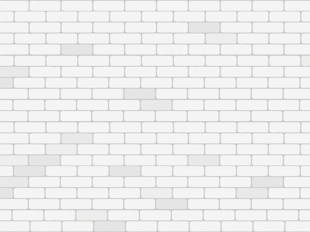 Fundo da parede de tijolo branco Vetor Premium