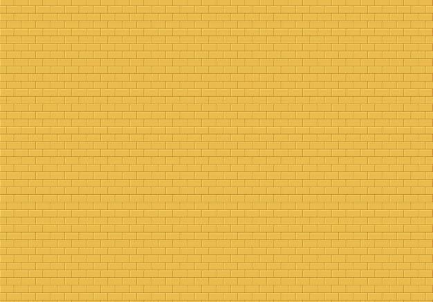 Fundo da parede de tijolo de ouro. os tijolos amarelos texture o vetor sem emenda do teste padrão. Vetor Premium