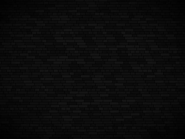 Fundo da parede de tijolo preto. textura de parede de tijolo de vetor Vetor Premium