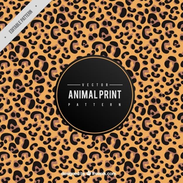 Fundo da pele do leopardo Vetor grátis