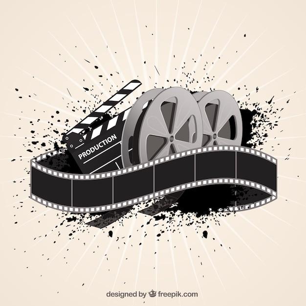 Fundo da película de filme no estilo abstrato Vetor grátis