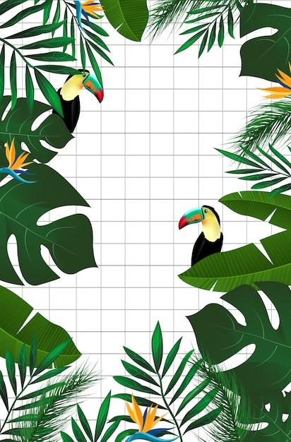 Fundo da selva Vetor Premium