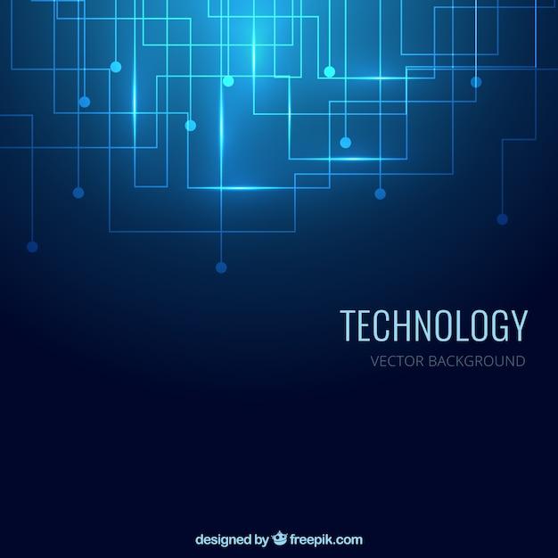 Fundo da tecnologia na cor azul Vetor grátis