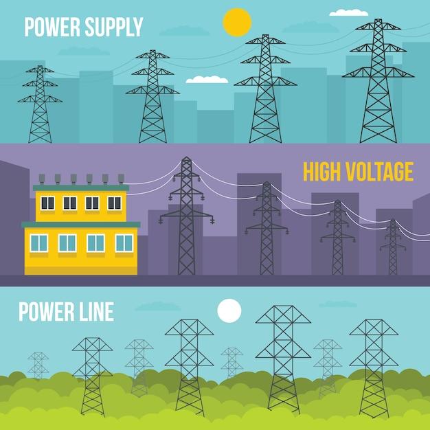 Fundo da torre elétrica Vetor Premium