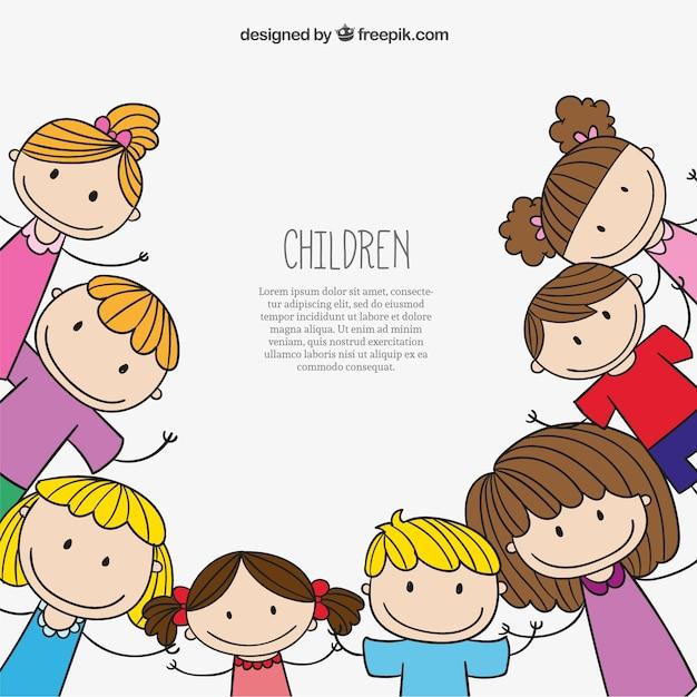 Vector Drawing Lines Kindergarten : Fundo das crianças baixar vetores grátis