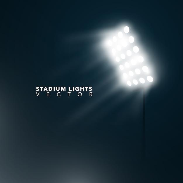 Fundo das luzes do estádio Vetor Premium