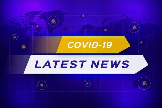 Fundo das últimas notícias sobre o coronavirus Vetor Premium