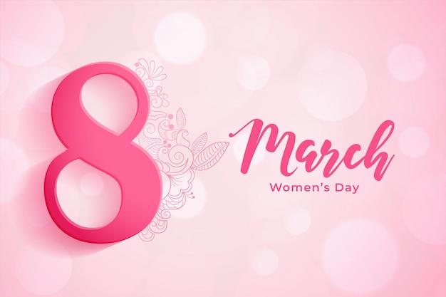 Fundo de 8 de março para a celebração do dia da mulher Vetor grátis