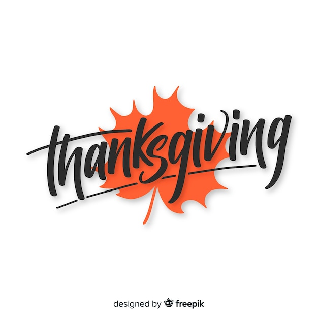 Fundo de ação de graças de mão desenhada com letras de outono Vetor grátis