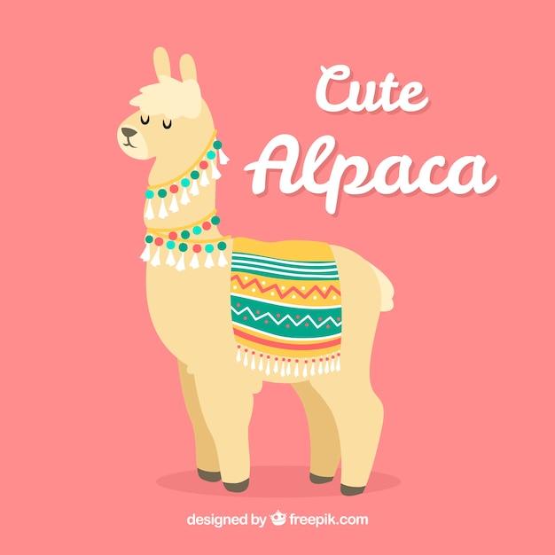 Fundo de alpaca bonito Vetor grátis