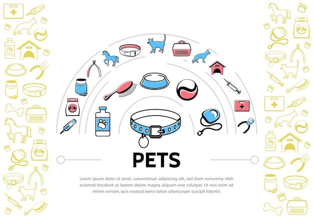 Fundo de animais de estimação Vetor grátis