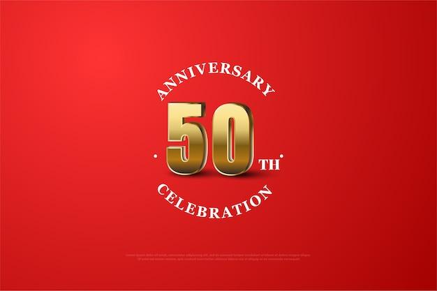 Fundo de aniversário com números esmaecidos e uma linha branca ao redor dos números Vetor Premium