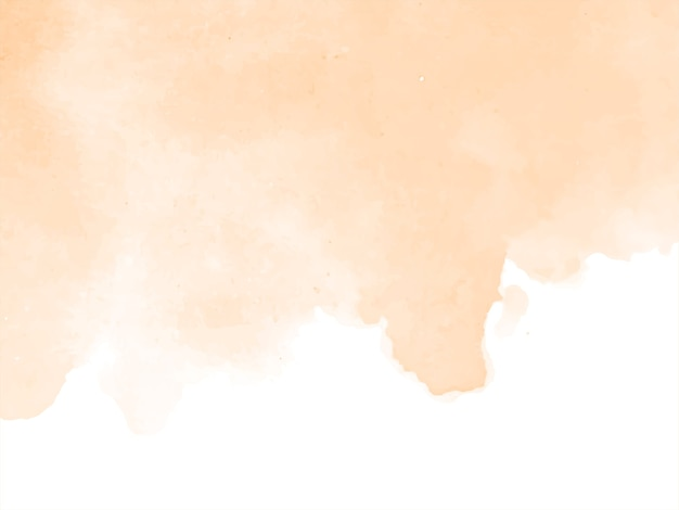 Fundo de aquarela de cor marrom suave Vetor grátis