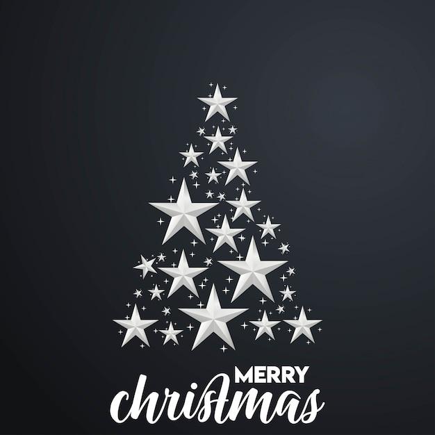 Fundo de árvore de natal feliz Vetor grátis