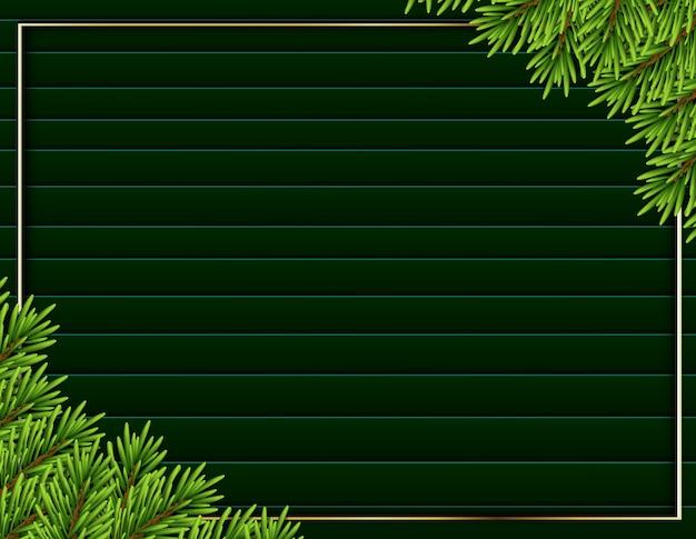 Fundo de árvore realista com quadro moderno Vetor Premium