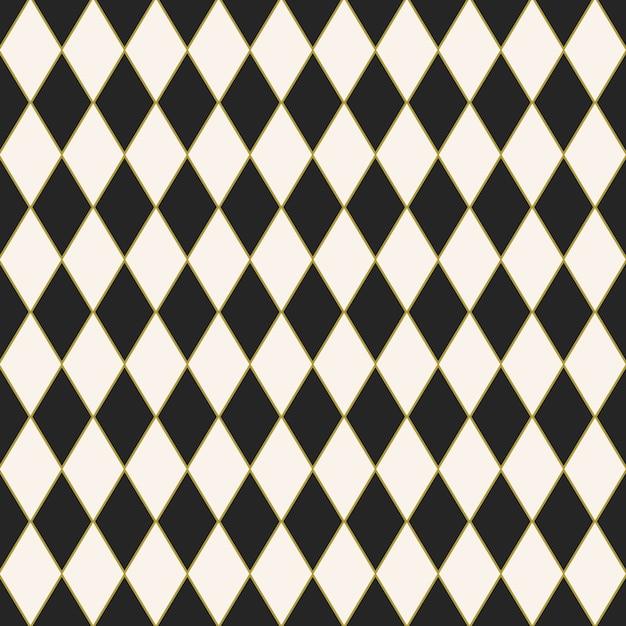Fundo de azulejos sem costura com um design padrão de arlequim Vetor grátis