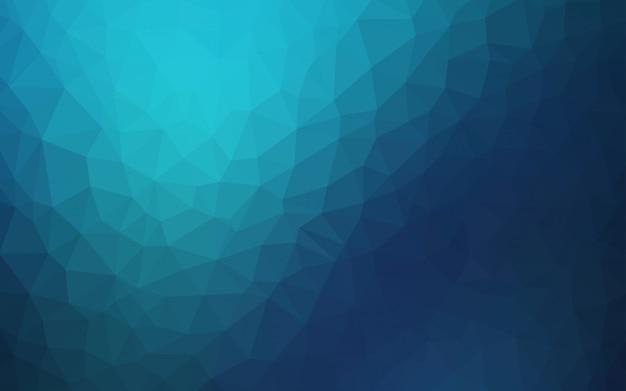 Fundo de baixo poli vector azul escuro. Vetor Premium