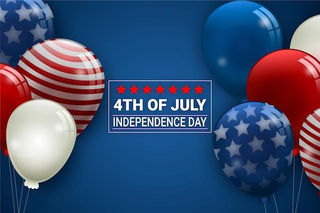 Fundo de balões do dia da independência Vetor grátis