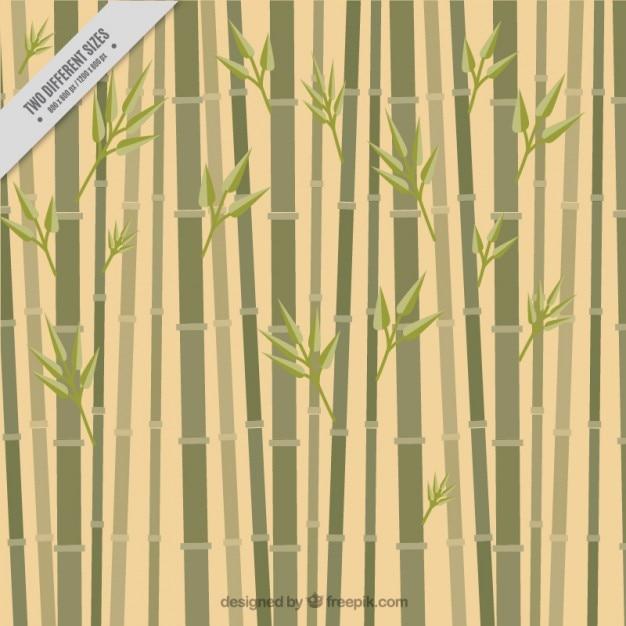 Fundo de bambu, estilo plana Vetor grátis