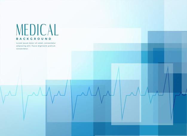 Fundo de bandeira médica de saúde azul Vetor grátis