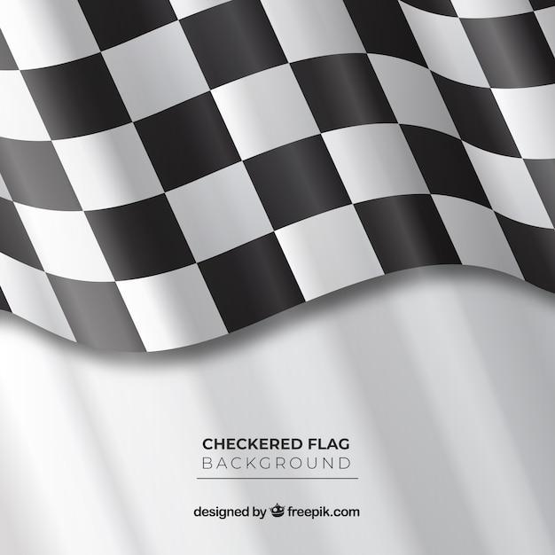 Fundo de bandeira quadriculada ondulada Vetor grátis