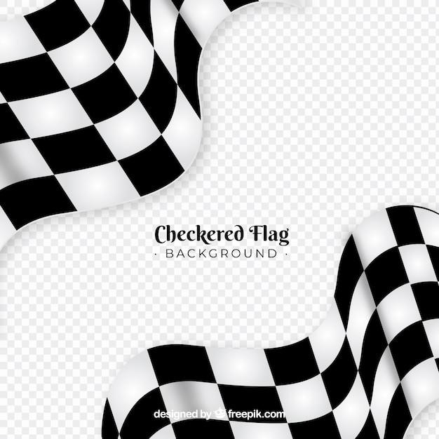 Fundo de bandeira quadriculada Vetor grátis