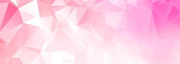 Fundo de banner abstrato polígono rosa Vetor grátis