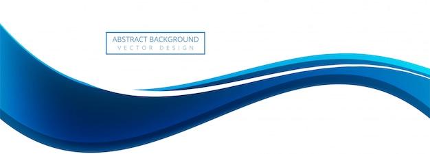Fundo de banner azul onda criativa de negócios Vetor grátis