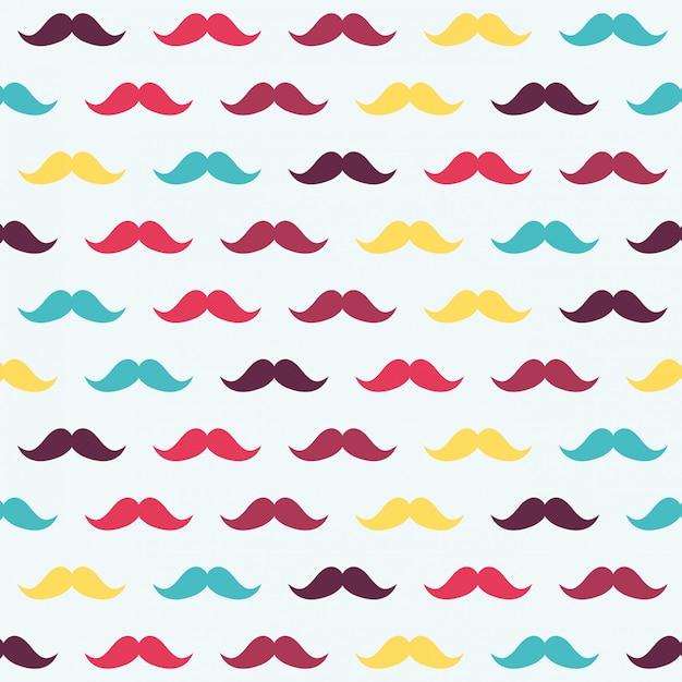 Fundo de bigode Vetor Premium