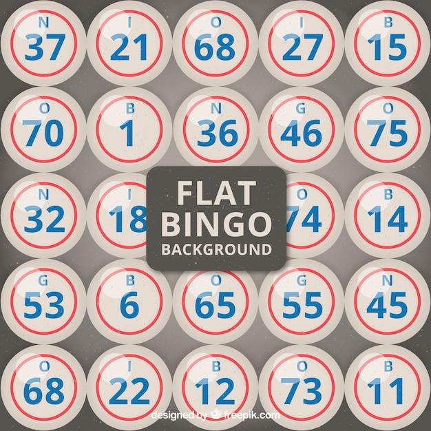 Fundo de bingo em design plano Vetor grátis