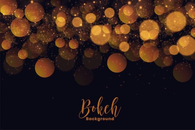 Fundo de bokeh atraente férias em efeito de luz dourada Vetor grátis