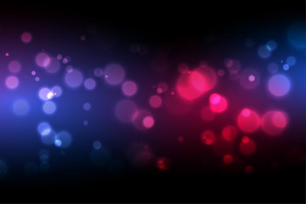 Fundo de bokeh com design de efeito de luz colorido Vetor grátis