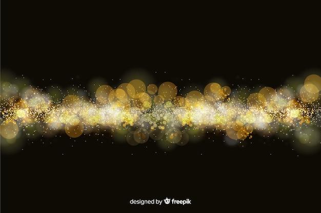 Fundo de bokeh com partículas de ouro Vetor grátis