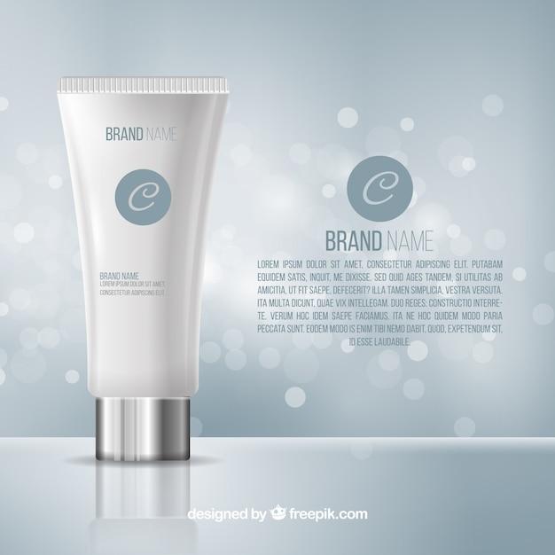 Fundo de bokeh cosmético Vetor Premium