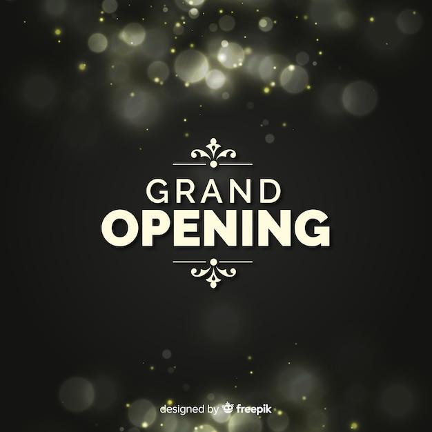 Fundo de bokeh de inauguração Vetor grátis