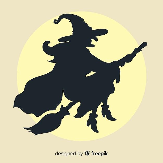 Fundo de bruxa de halloween Vetor grátis